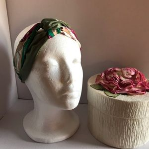 Hairband --Olive Green Design